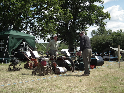 Lawnmowers on display at the 2011 Festival