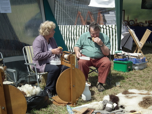 Spinning wool at the 2011 Festival