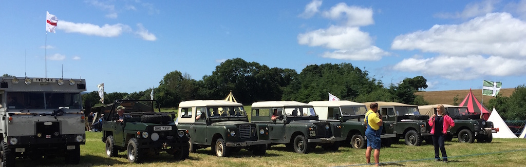 Landrovers in the arena for 2015