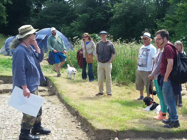 Moistown tour conducted by Ace Archaeology.