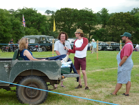 Diana interviewing from Landrover